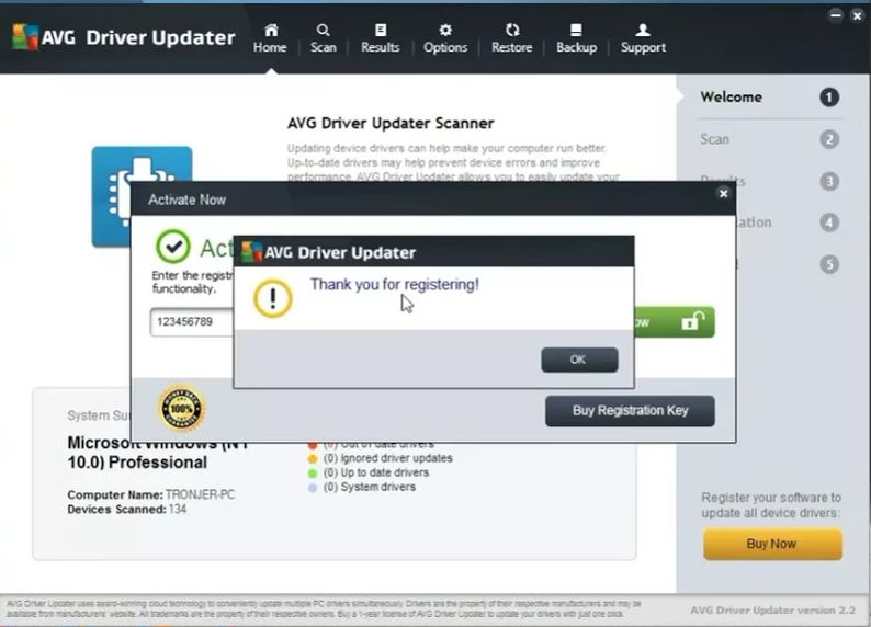avg driver updater 2.3.1 activation key